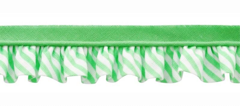 25m - 1051 Rayures vert menthe