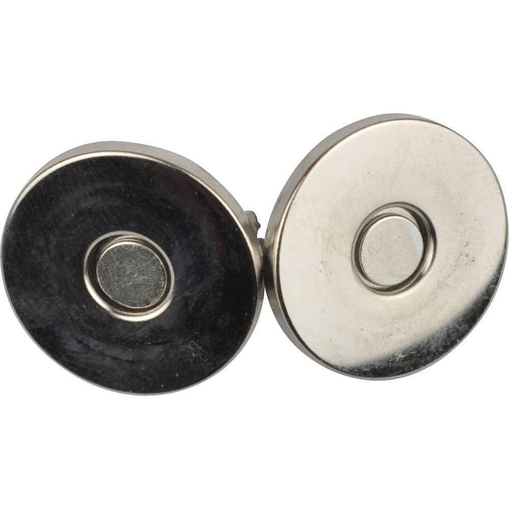 10St. - 0210 Magnetverschluss silberfarben, 18mm