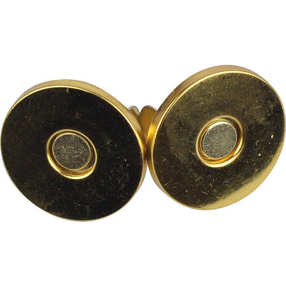 10St. - 0253 Magnetverschluss goldfarben, 18mm